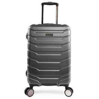 Perry Ellis Traction 21-inch Hardside Spinner Suitcase, Charcoal