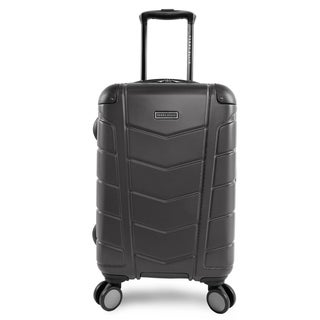 Perry Ellis Tanner 21-inch Hardside Spinner Suitcase, Charcoal