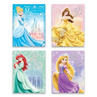 Classic Disney Princesses - 4 Piece Embellished Canvas Set