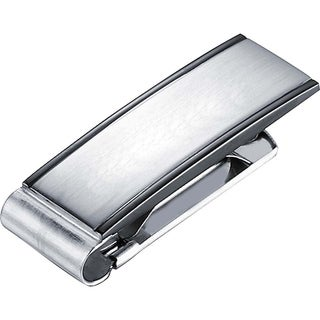 Visol Javier Brushed Gunmetal Stainless Steel Money Clip