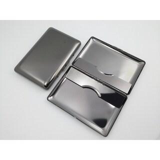 Visol Avery Polished Gun Metal Business Card Holder