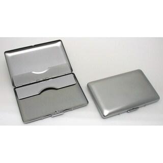 Visol Avery Brushed Chrome Business Card Holder