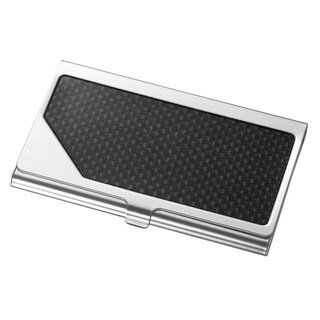 Visol Teton Stainless Steel and Carbon Fiber Business Card Holder