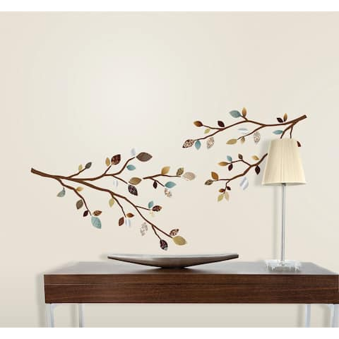 Branches and Leaves 3D Decal - Set of 6
