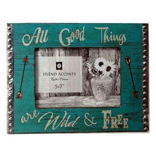HiEnd Accents All Good Things Picture Frame, 5x7