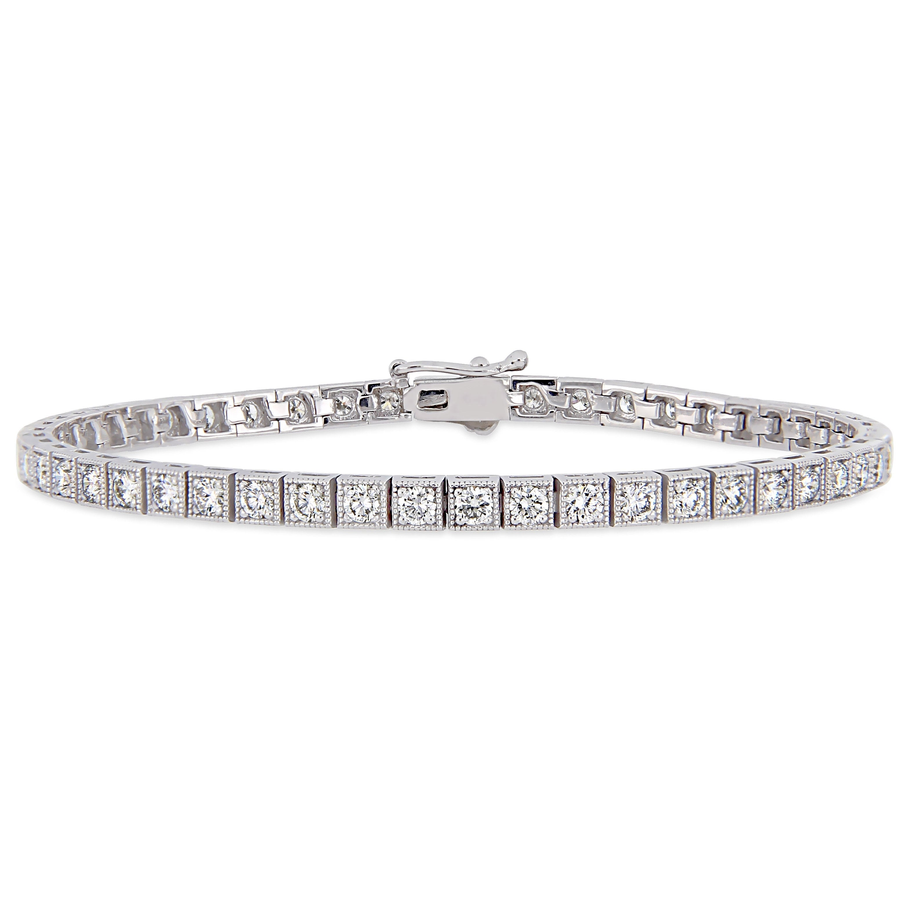 Fine Jewellery 7 Inches Women S 14k White Gold Over 3 1 2 Ct Diamond S Link Tennis Bracelet Jewellery Watches Fmj Br