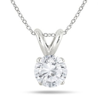 1/7 Carat Diamond Solitaire Pendant in .925 Sterling Silver