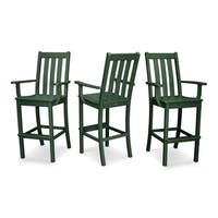 POLYWOOD Vineyard Bar Arm Chair 3-Pack