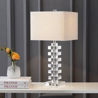 "June 28"" Crystal LED Table Lamp, Clear"