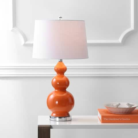 "Bowen 27.5"" Ceramic LED Table Lamp, Coral by JONATHAN Y"
