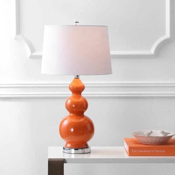 "Bowen 27.5"" Ceramic LED Table Lamp, Coral"