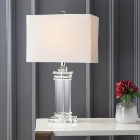 "Ophelia 26.5"" Crystal LED Table Lamp, Clear by JONATHAN Y"