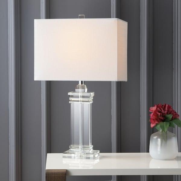 "Ophelia 26.5"" Crystal LED Table Lamp, Clear"