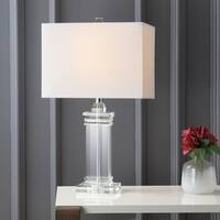 "Ophelia 26.5"" Crystal LED Table Lamp, Clear"