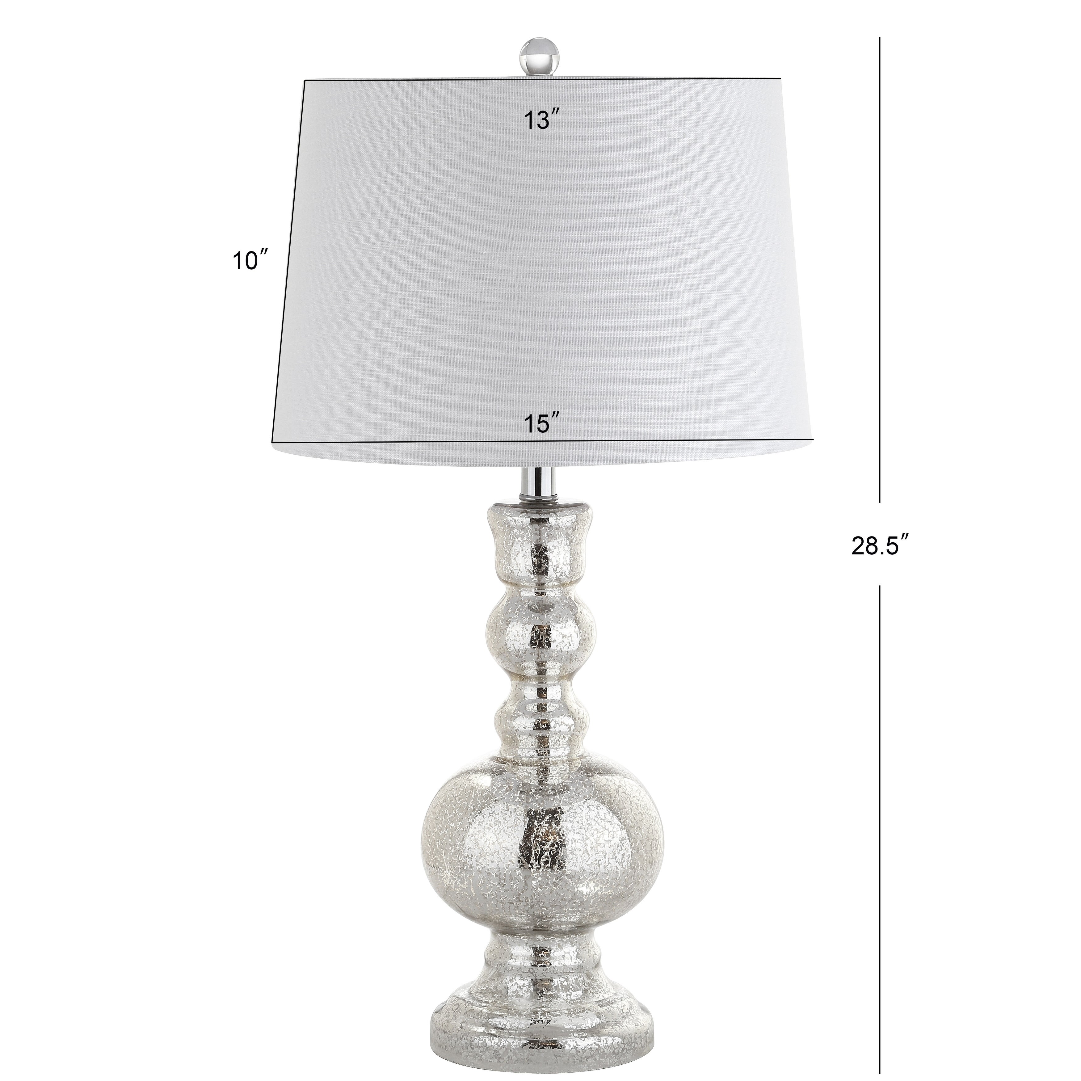 Genie 28 5 Glass Led Table Lamp Mercury Silver Set Of 2 By Jonathan Y Overstock 20750371