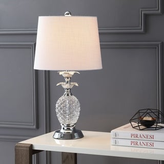 "Jane 24"" Glass LED Table Lamp, Clear/Chrome by JONATHAN  Y"