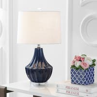 "Tate 24.5"" Ceramic LED Table Lamp, Navy"