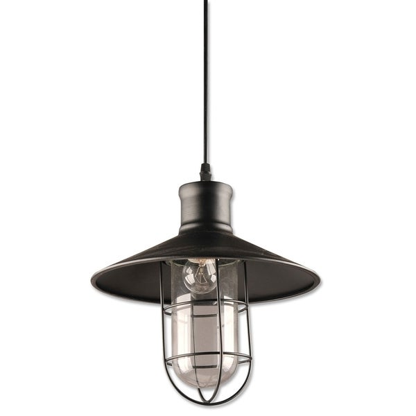 Chester Collection 1-Light Black Pendant