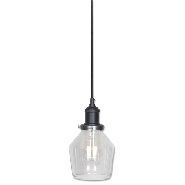 Wylie Collection 1-Light Black Pendant