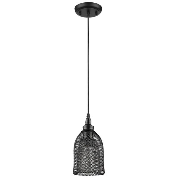 Mesh 1-Light Black Pendant Fixture