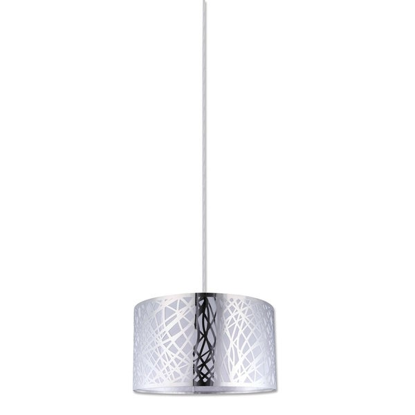 Nice Collection, One Light Pendant Fixture, Chrome Finish with Shade