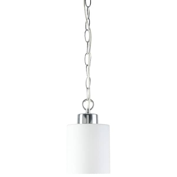 Markham Collection One Lights Pendant Fixture, Chrome Finish