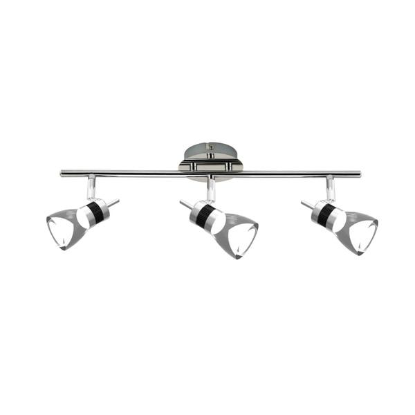 Led Track Lighting Kits Reviews: Shop LED 19.7 Inches 3-Light Brushed Chrome Integrated LED