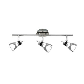 LED 19.7 inches 3-Light Brushed Chrome Integrated LED Track Lighting Kit