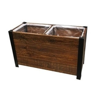 2-Section Recycled Wood Planter Box