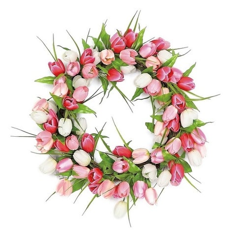 Luxurious Tulip Blossom Silk Wreath