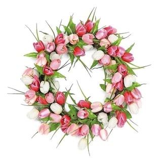 Luxurious Tulip Blossom Silk Wreath
