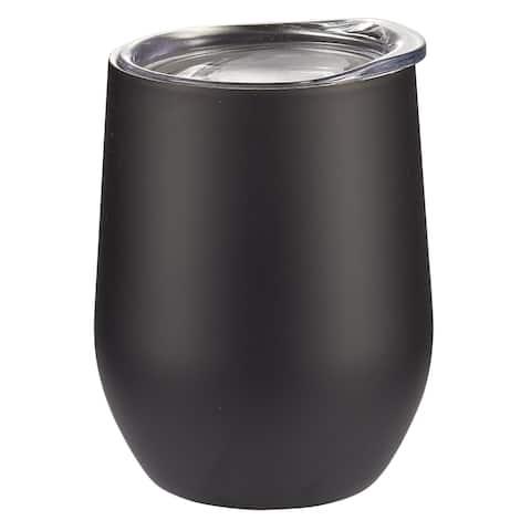 New - Visol Black Matte Double Wall Insulated Wine Mug