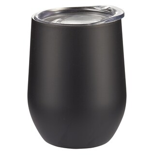 New - Visol Black Matte Double Wall Insulated Wine Mug