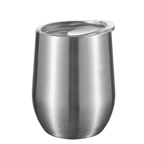 New - Visol Brushed Stainless Steel Wine Double Wall Insulated Wine Mug