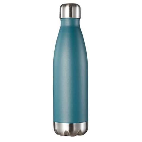 Visol Marina Double Wall 16 oz Water Bottle - Turquoise Blue