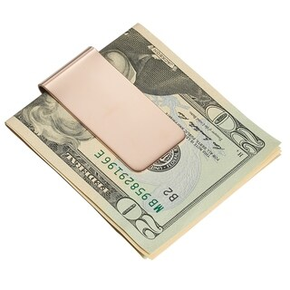Visol Rose Gold Plated Stainless Steel Money Clip