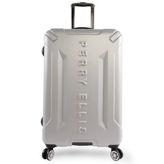 Perry Ellis Delancy 29-inch Hardside Spinner Suitcase, Silver