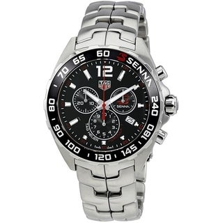 Link to Tag Heuer Men's CAZ1015.BA0883 'Senna' Chronograph Stainless Steel Watch Similar Items in Men's Watches