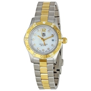 Tag Heuer Women's WAF1451.BB0825 'Aquaracer' Diamond Two-Tone Stainless Steel Watch