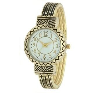 Olivia Pratt Abstract Textured Cuff Watch - N/A