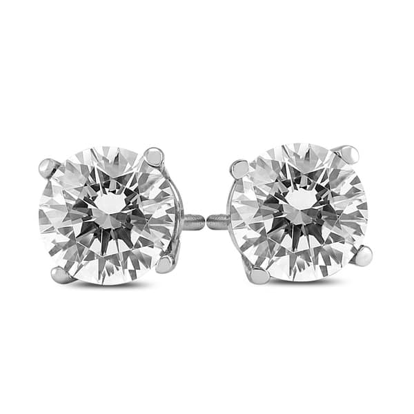 25b5a9099 Shop 1 1/2 Carat TW AGS Certified Round Diamond Solitaire Stud Earrings in 14K  White Gold (I-J Color, SI1-SI2 Clarity) - On Sale - Free Shipping Today ...