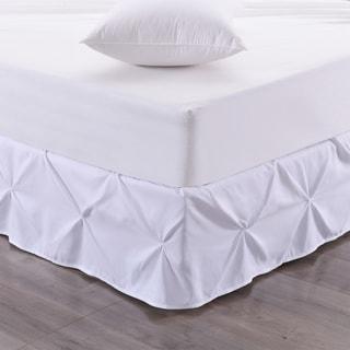 Hudson Pintuck 14-Inch Drop Bedskirt (Twin, Full, Queen, King) White