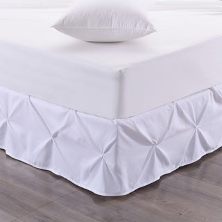 Hudson Pintuck 14-Inch Drop Bedskirt (Twin, Full, Queen, King) White