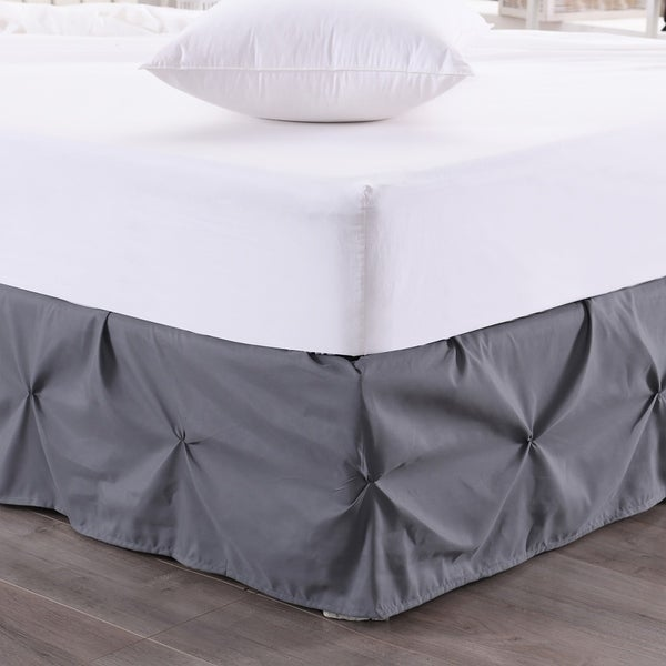 Hudson Pintuck 14 Inch Drop Bedskirt Twin Full Queen King