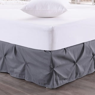 Hudson Pintuck 14-Inch Drop Bedskirt (Twin, Full, Queen, King) Grey
