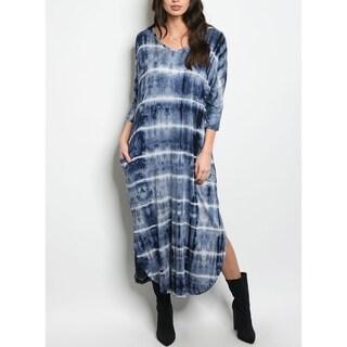 JED Women's Tie Dye Jersey Midi Dress