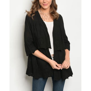 JED Women's 3/4 Sleeve Cotton Open Front Cardigan Top (More options available)