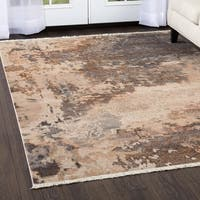 "Rutherford Beige Paint Strokes Area Rug - 31""x50"""