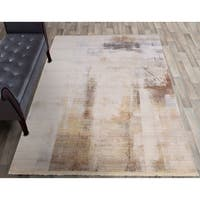 """Rutherford Beige Paint Strokes Area Rug - 3'3""""x5'2"""""""