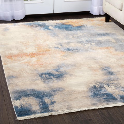 """Gray Abstract Rutherford Rug - 31""""x50"""""""